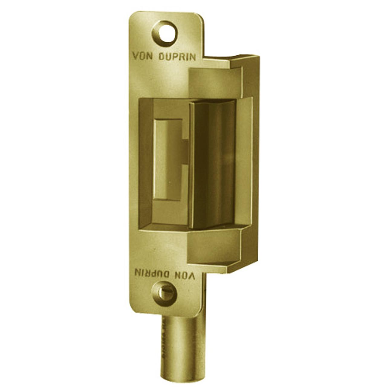 6211AL-12VDC-US4 Von Duprin Electric Strike in Satin Brass Finish