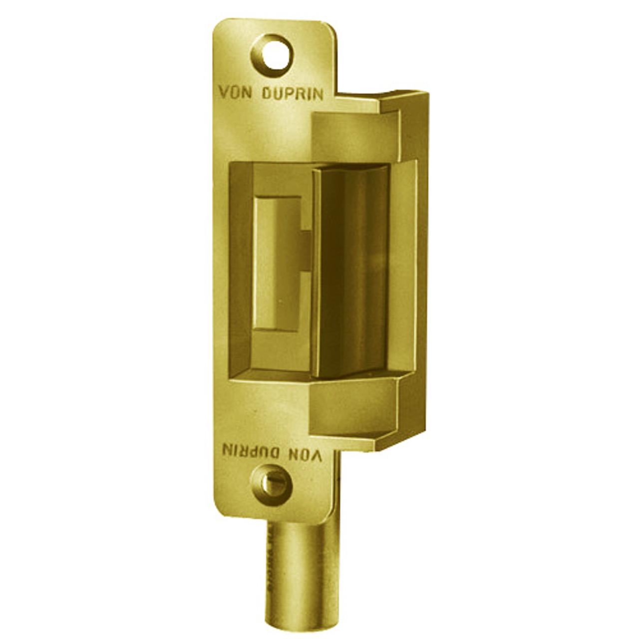 6211AL-12VDC-US3 Von Duprin Electric Strike in Bright Brass Finish