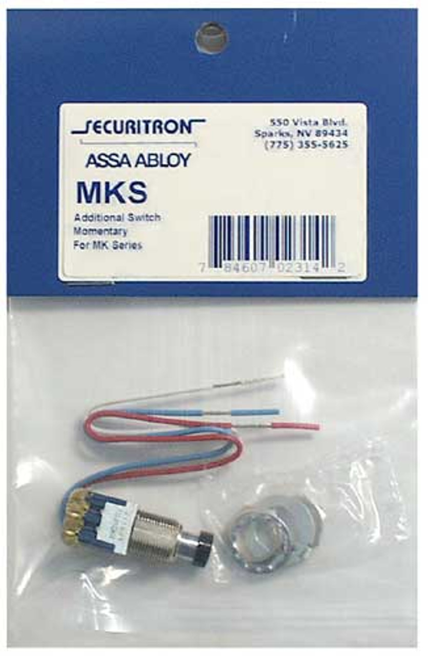 MKS2 Securitron Momentary Mortise Switch