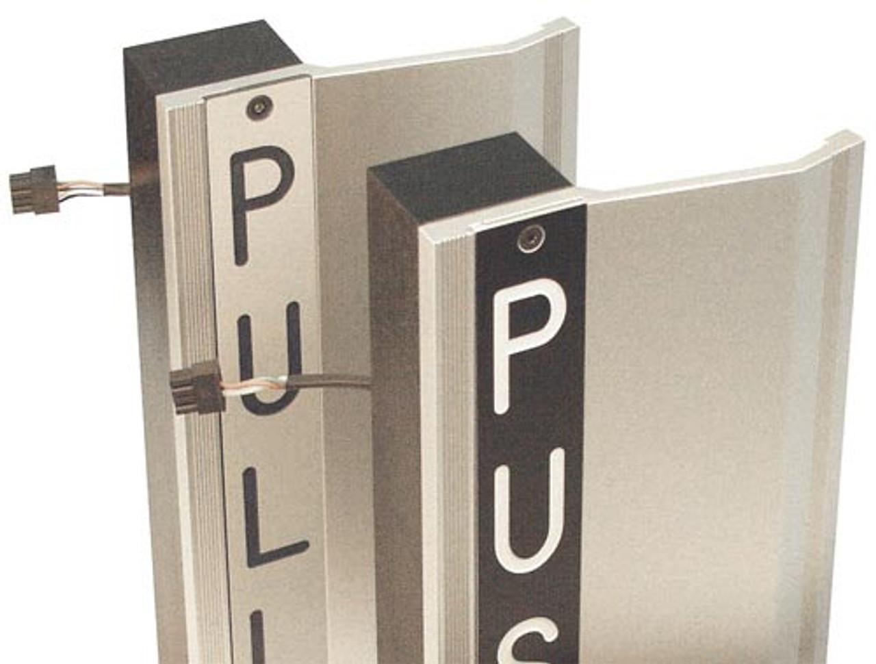 EL-TSH-BK Securitron Touch Sense Handle-Push/Pull in Black Anodized Finish