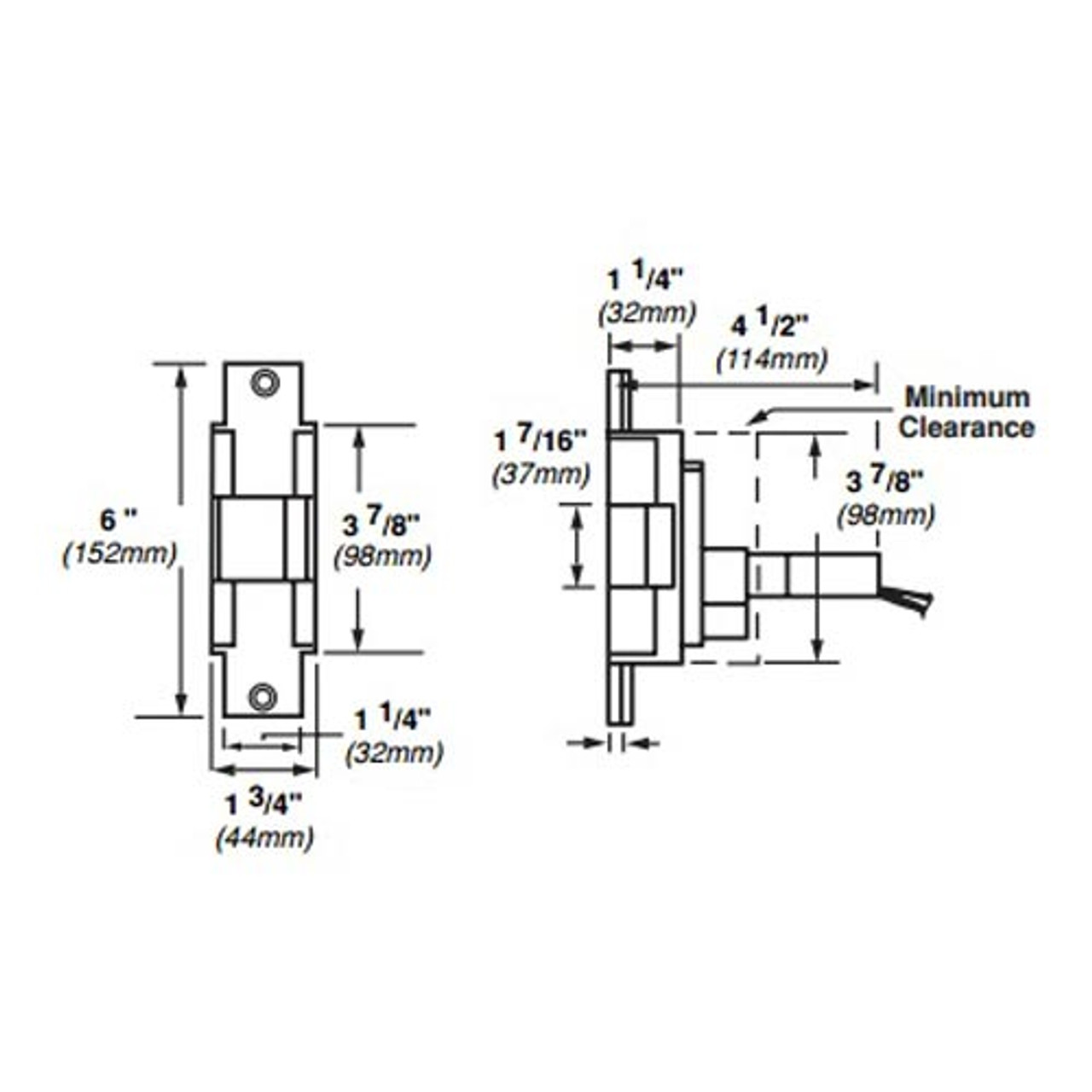 6221-DS-LC-24VDC-US10 Von Duprin Electric Strike for Mortise or Cylindrical Locksets in Satin Bronze Finish