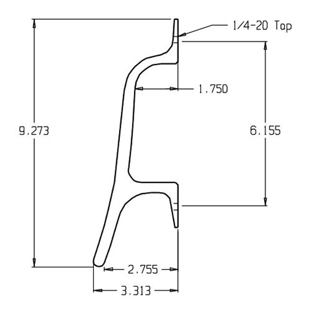 44-626 Don Jo Cast Door Pull with 6 inch center to center length