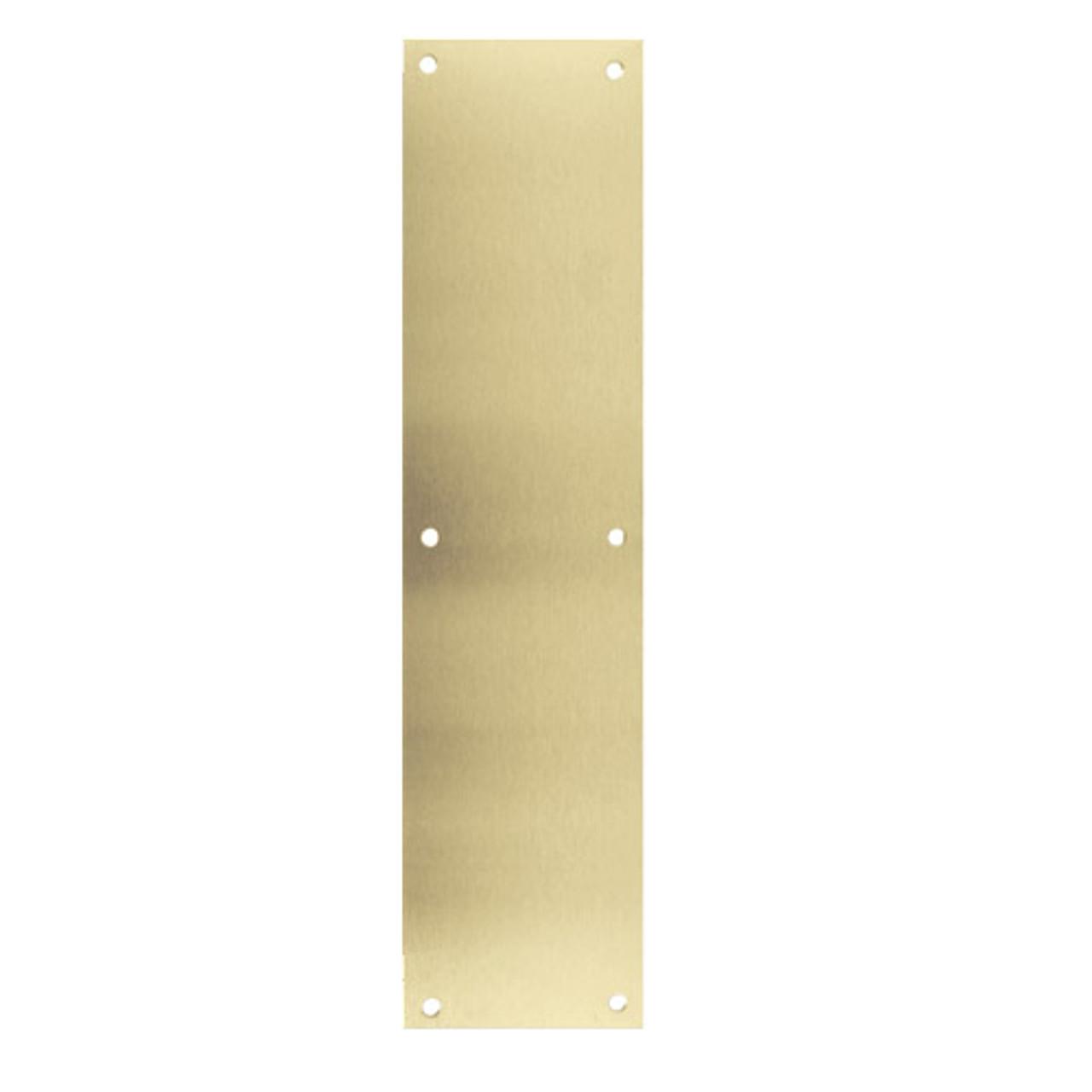 72-606 Don Jo 0.50 Push Plate in Clear Satin Brass Finish