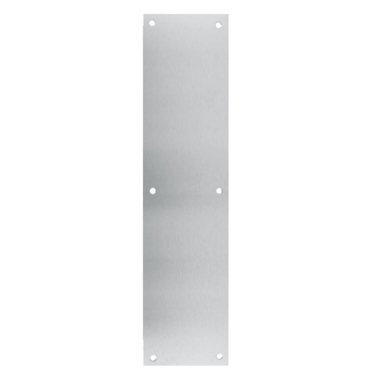 73-628 Don Jo 0.50 Push Plate in Aluminum Finish