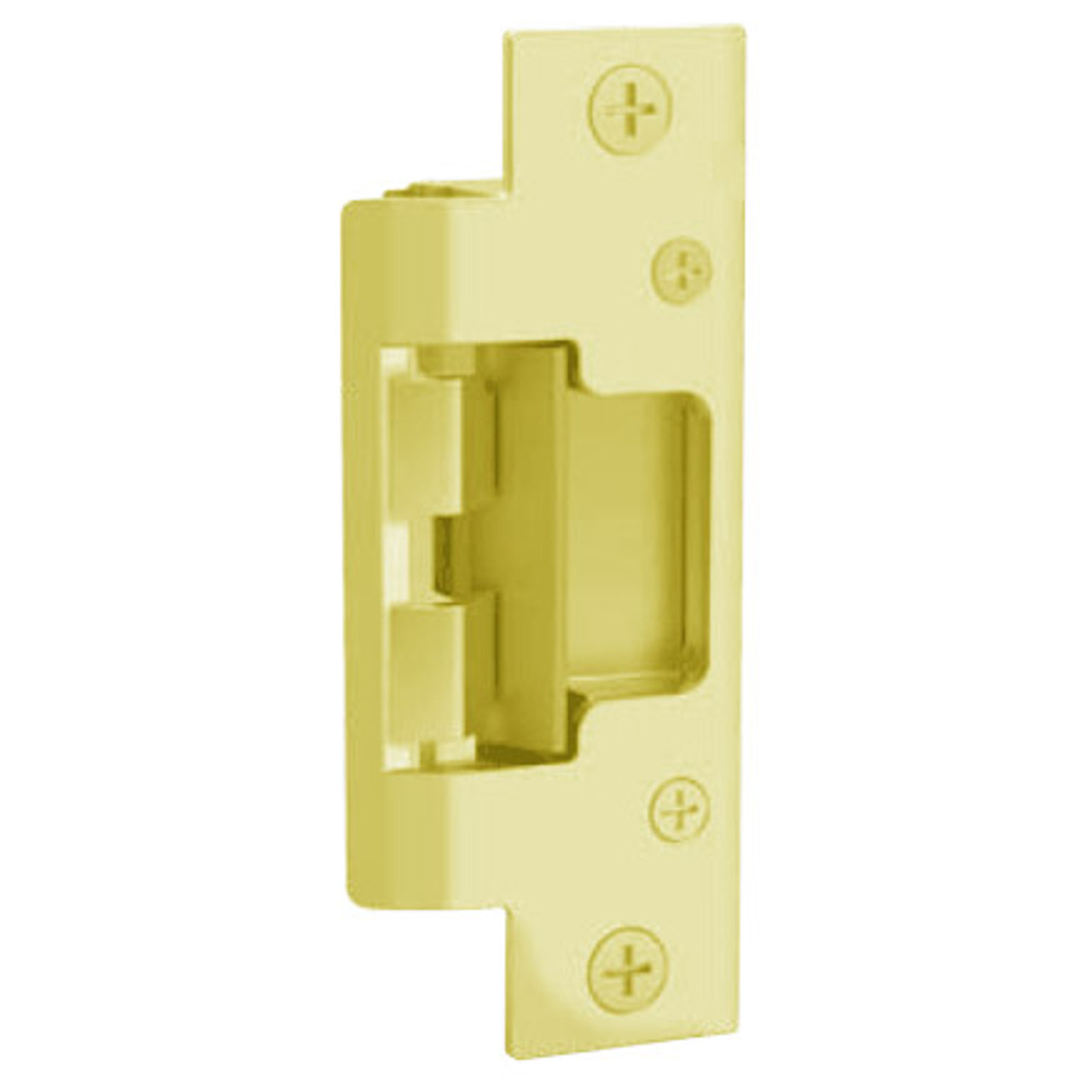 """802-605 Hes 7-15/16 x 1-7/16"""" Faceplate in Bright Brass Finish"""