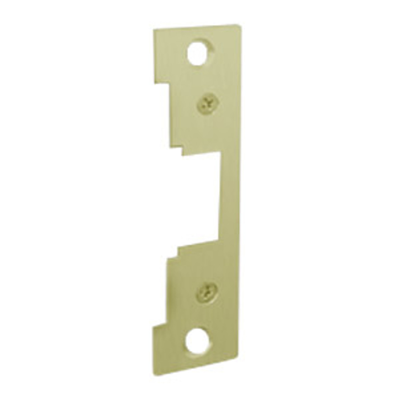"""791-605 Hes 4-7/8 x 1-1/4"""" Faceplate in Bright Brass Finish"""