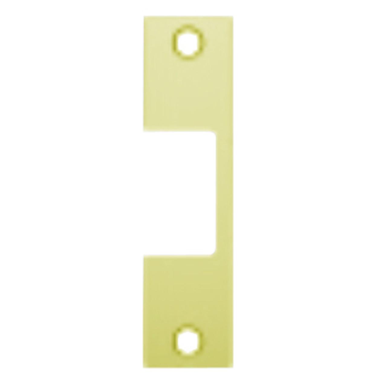"E-605 Hes 4-7/8"" x 1-1/4"" Faceplate in Bright Brass Finish"