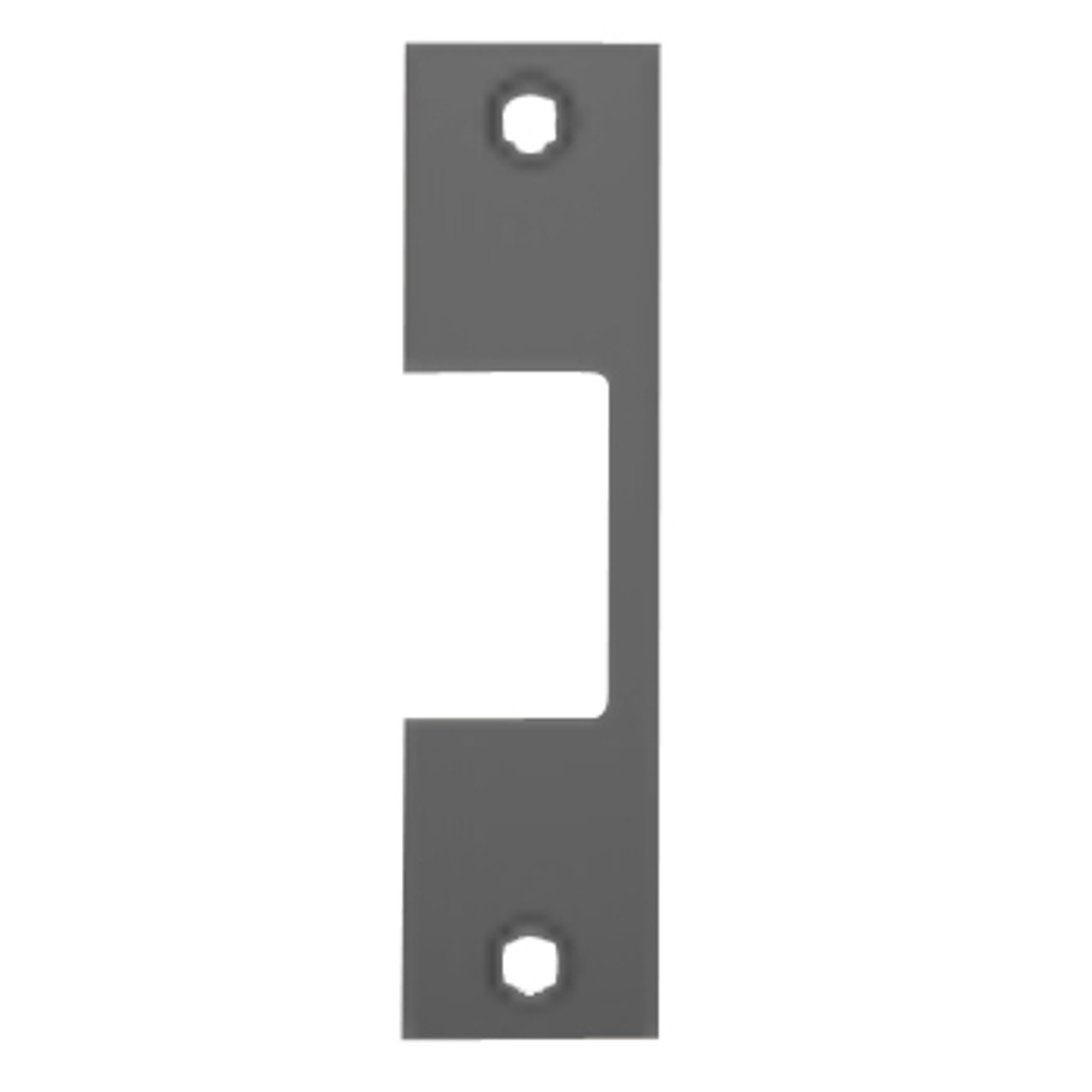 """Z-BLK Hes 4-7/8"""" x 1-1/4"""" Faceplate in Black Finish"""