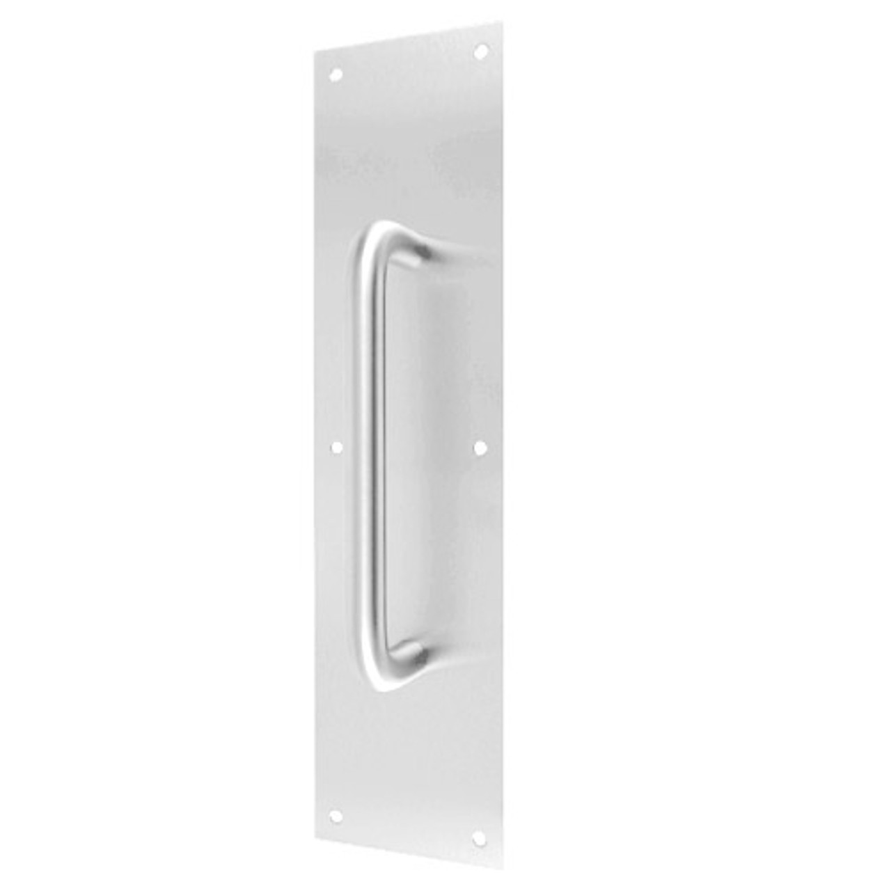 """7111-628 Don Jo Pull Plates with 3/4"""" Round Pulls in Aluminum Finish"""
