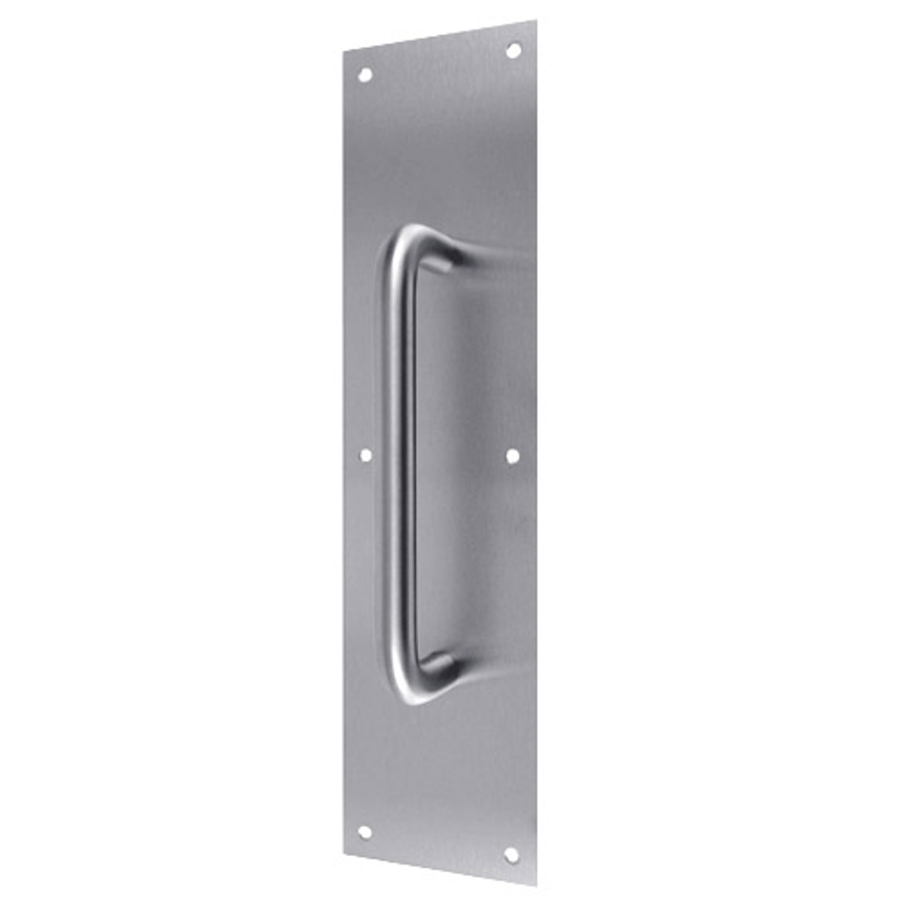 """7121-630 Don Jo Pull Plates with 1"""" Round Pulls in Satin Stainless Steel Finish"""