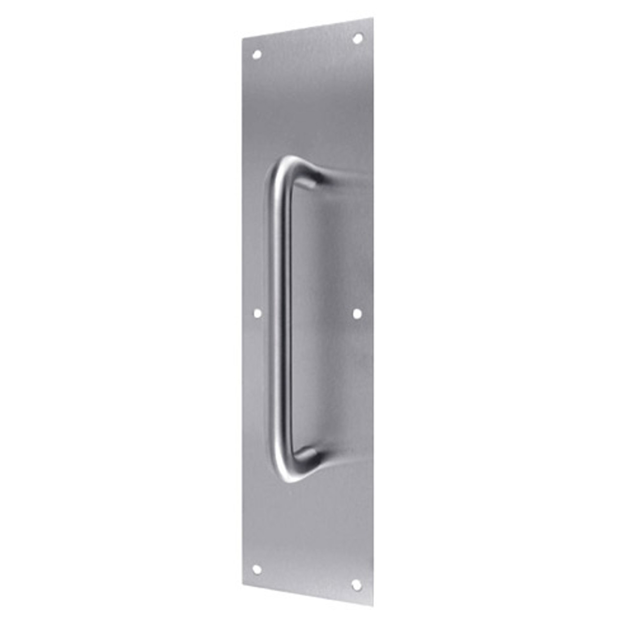 """7816-630 Don Jo 1/8"""" Thick Pull Plate with Round pull in Satin Stainless Steel Finish"""