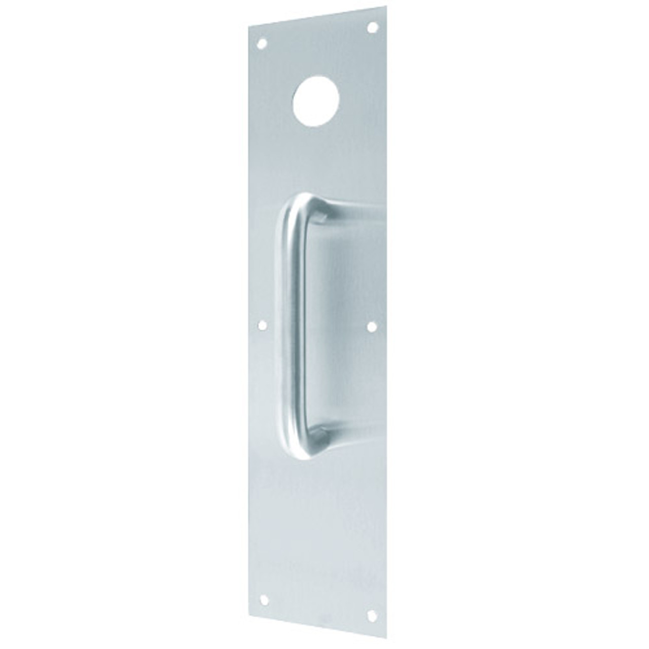 CFC7015-629 Don Jo Pull Plates with Holes in Bright Stainless Steel Finish