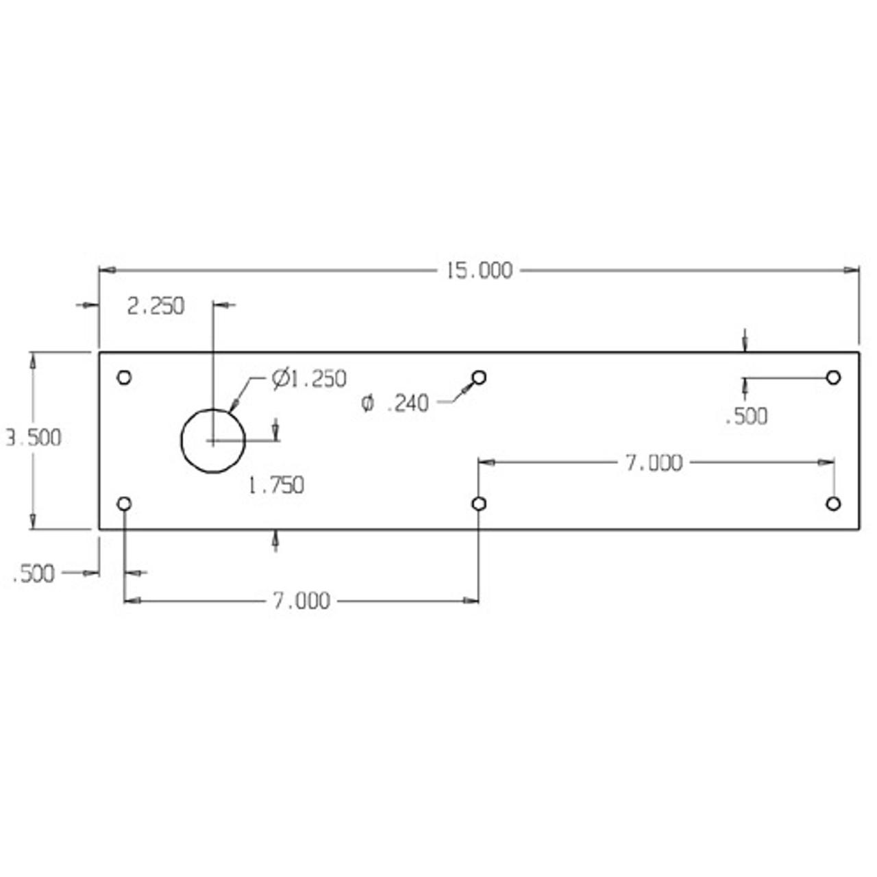 CFC70-630 Don Jo Push Plates with Holes