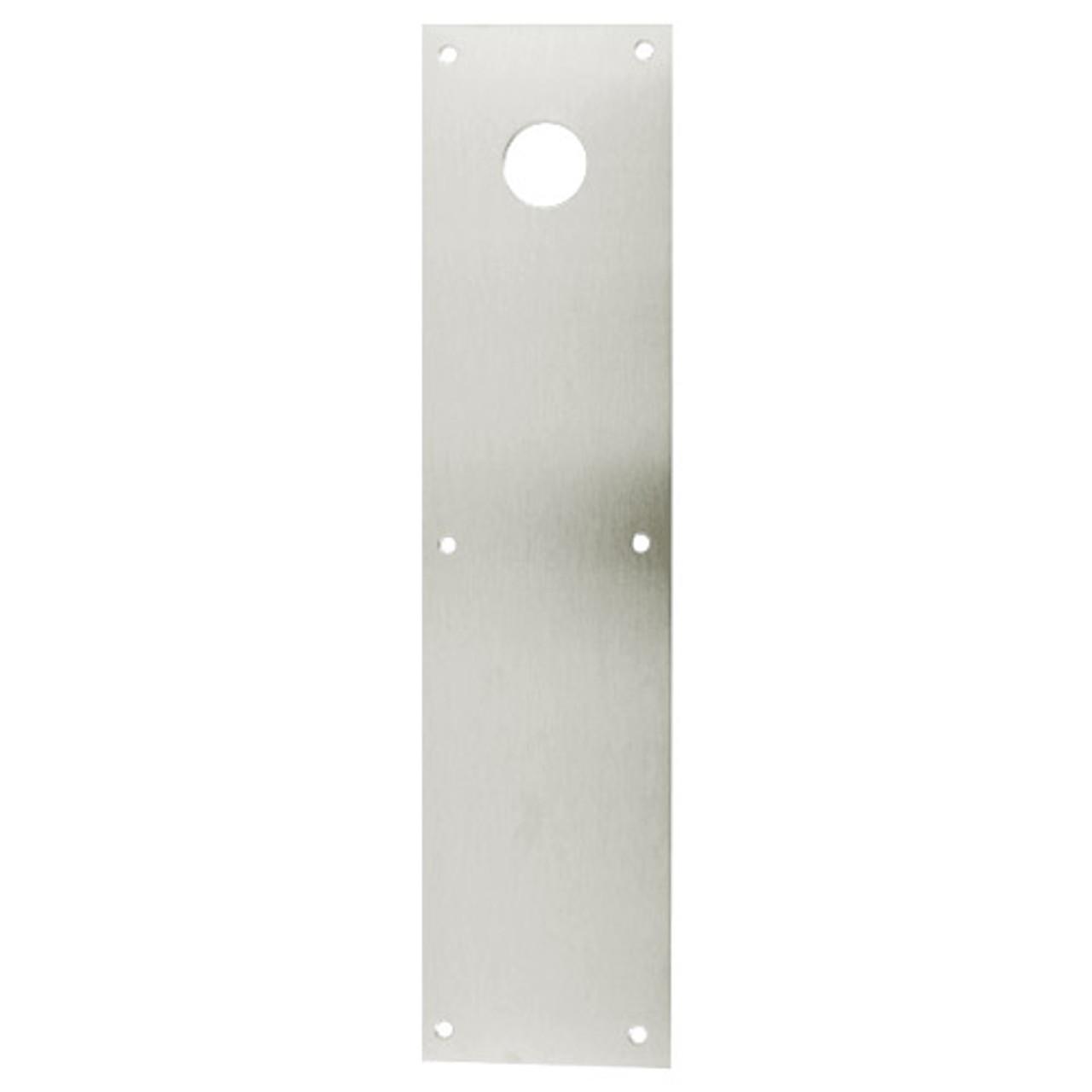 CFK70-628 Don Jo Push Plates with Holes in Aluminum Finish