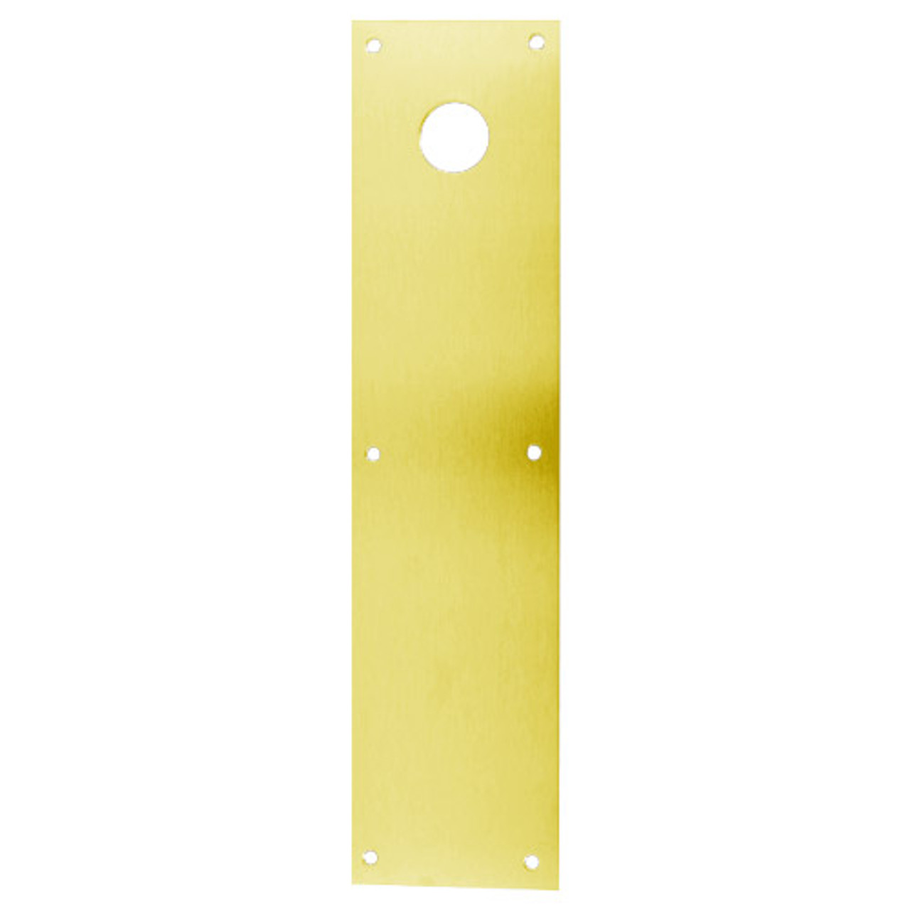 CFK71-605 Don Jo Push Plates with Holes in Bright Brass Finish
