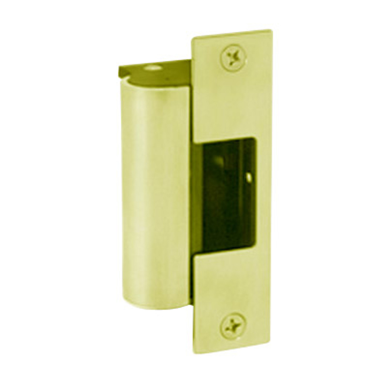 1006-F-605-LBSM Hes Fail Safe Electric Strike Body with Latchbolt Strike Monitor in Bright Brass Finish