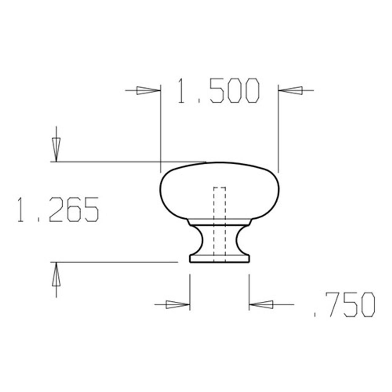"""56-613 Don Jo 1 1/2"""" (inches) Cabinet Knob"""