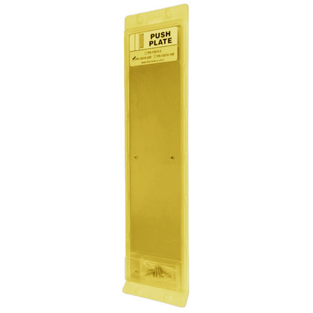 PS-13515-605 Don Jo Push Plate in Bright Brass Finish