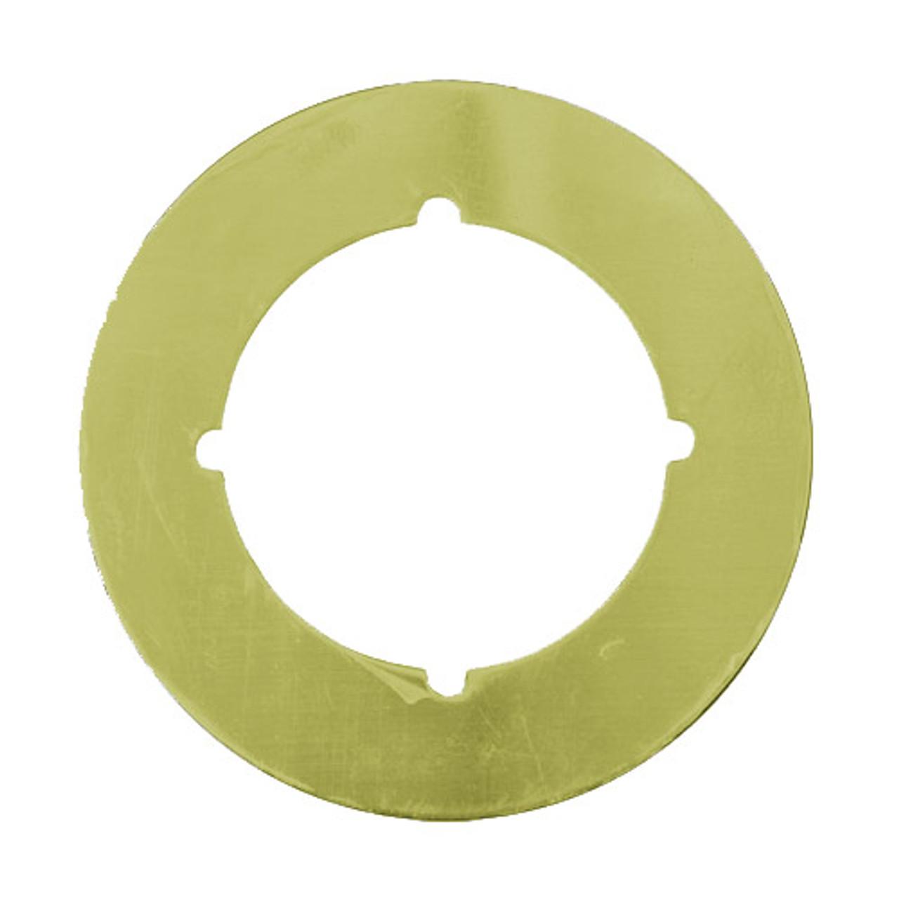 PBSP-135-605 Don Jo Scar Plate in Bright Brass Finish