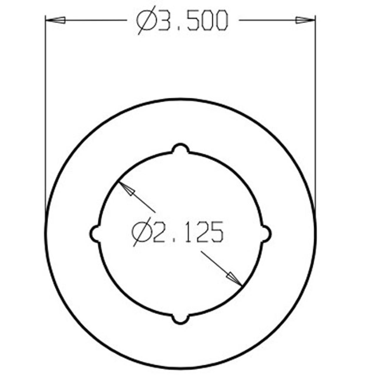 PBSP-135-605 Don Jo Scar Plate Dimensional View
