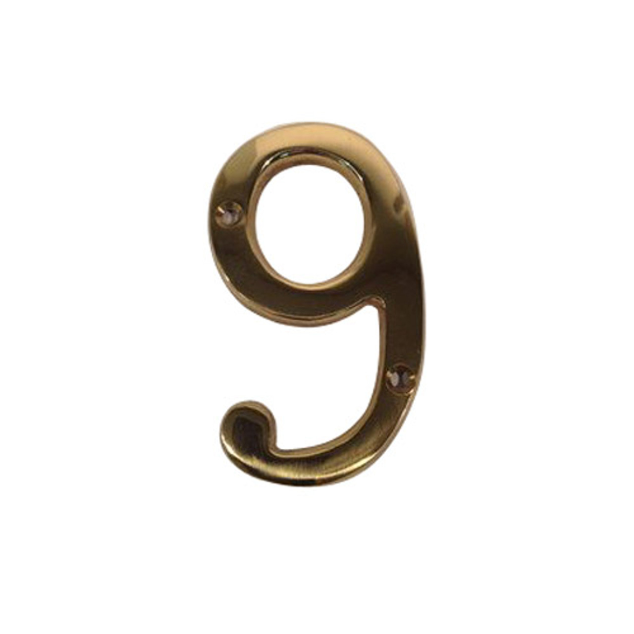BN4-9-605 Don Jo Numbers in Bright Brass Finish
