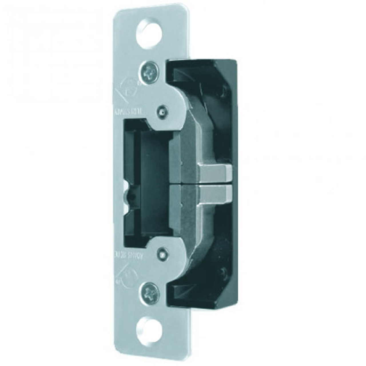 7400-629 Adams Rite UltraLine Electric Strike for Radius Jambs in Bright Stainless Finish