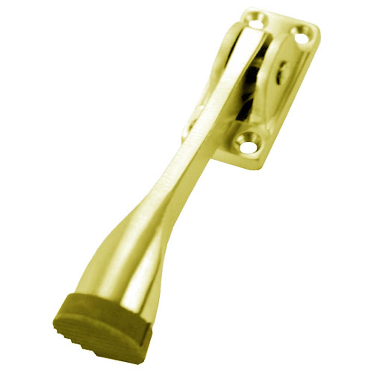 1465-605 Don Jo Door Holder in Bright Brass Finish