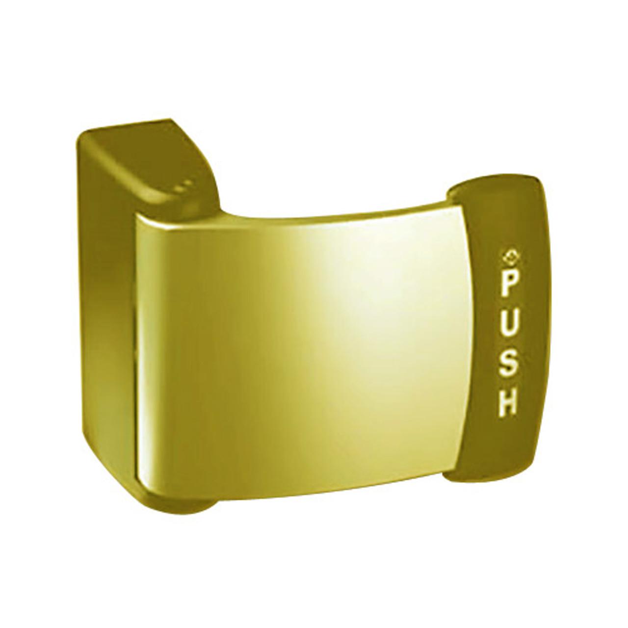 4591M-14-03-US3 Adams Rite Deadlatch Paddle in Bright Brass Finish
