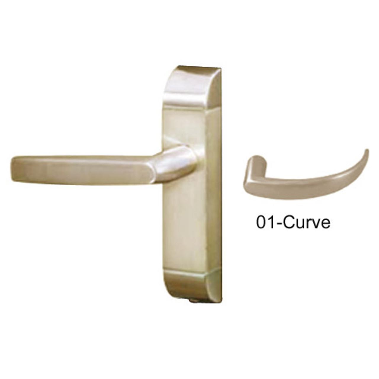 4600-01-512-US4 Adams Rite Heavy Duty Curve Deadlatch Handles in Satin Brass Finish