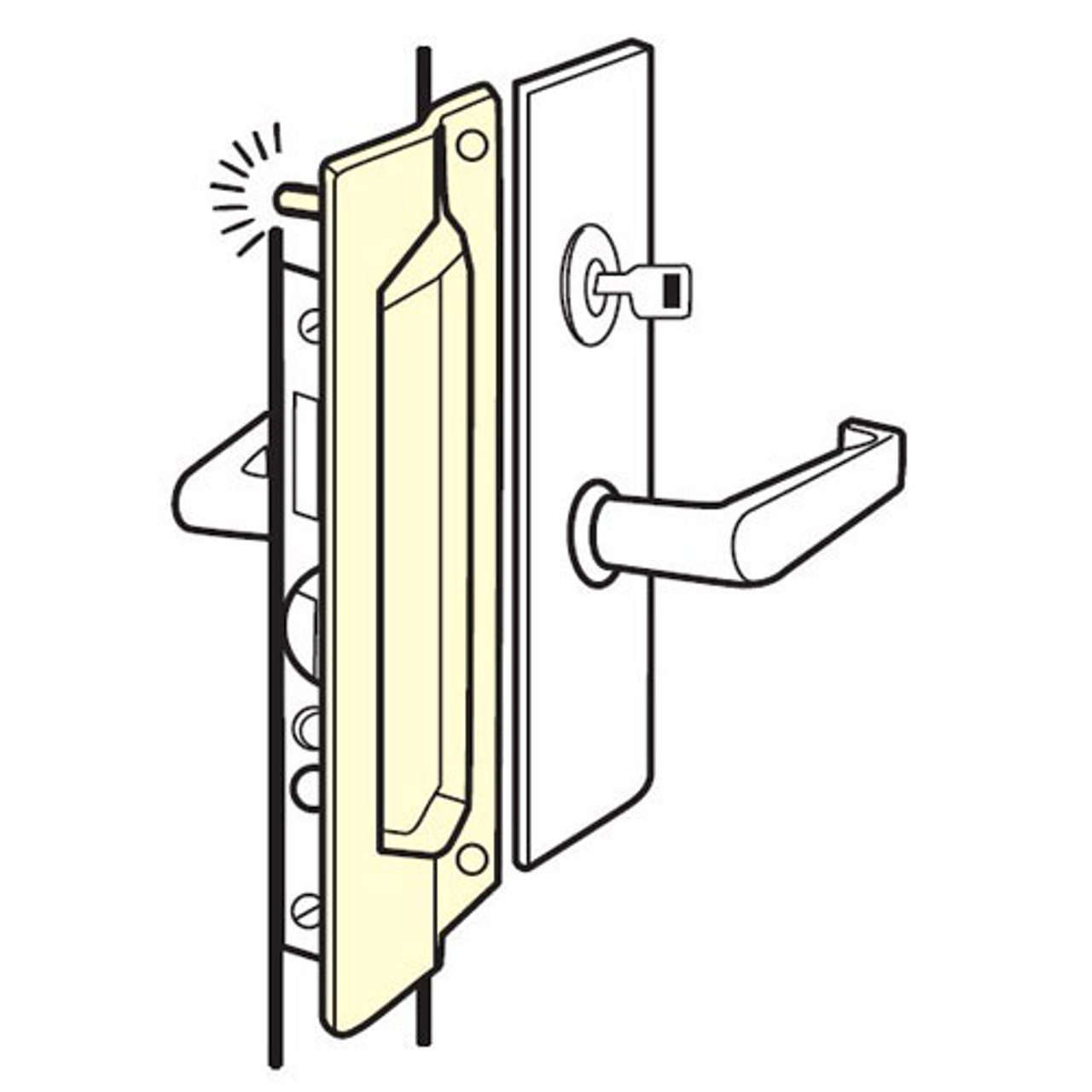 PMLP-211-CP Don Jo Latch Protector in Chrome Plated Finish