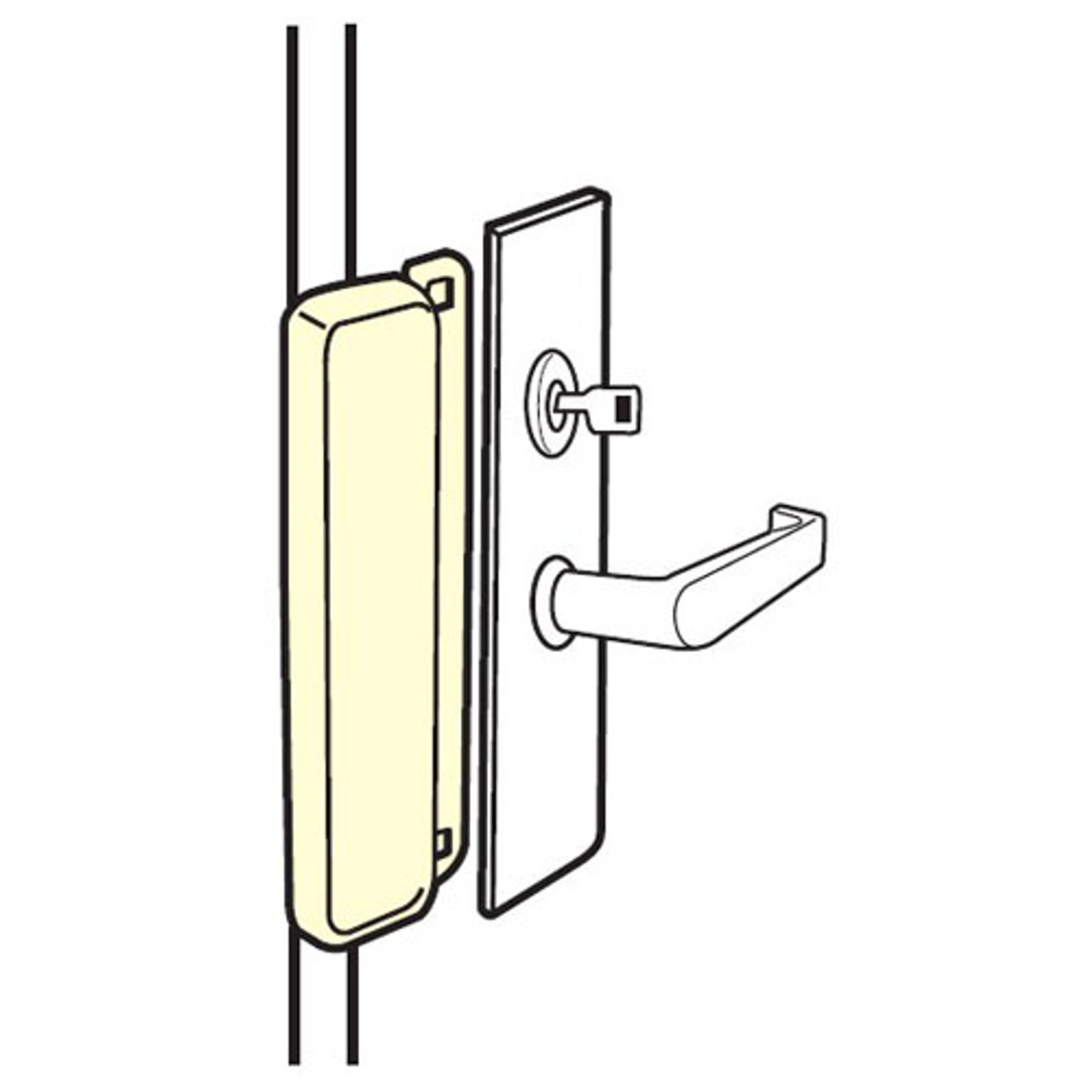 MELP-210-EBF-SL Don Jo Latch Protector for Electric Strikes in Silver Coated Finish