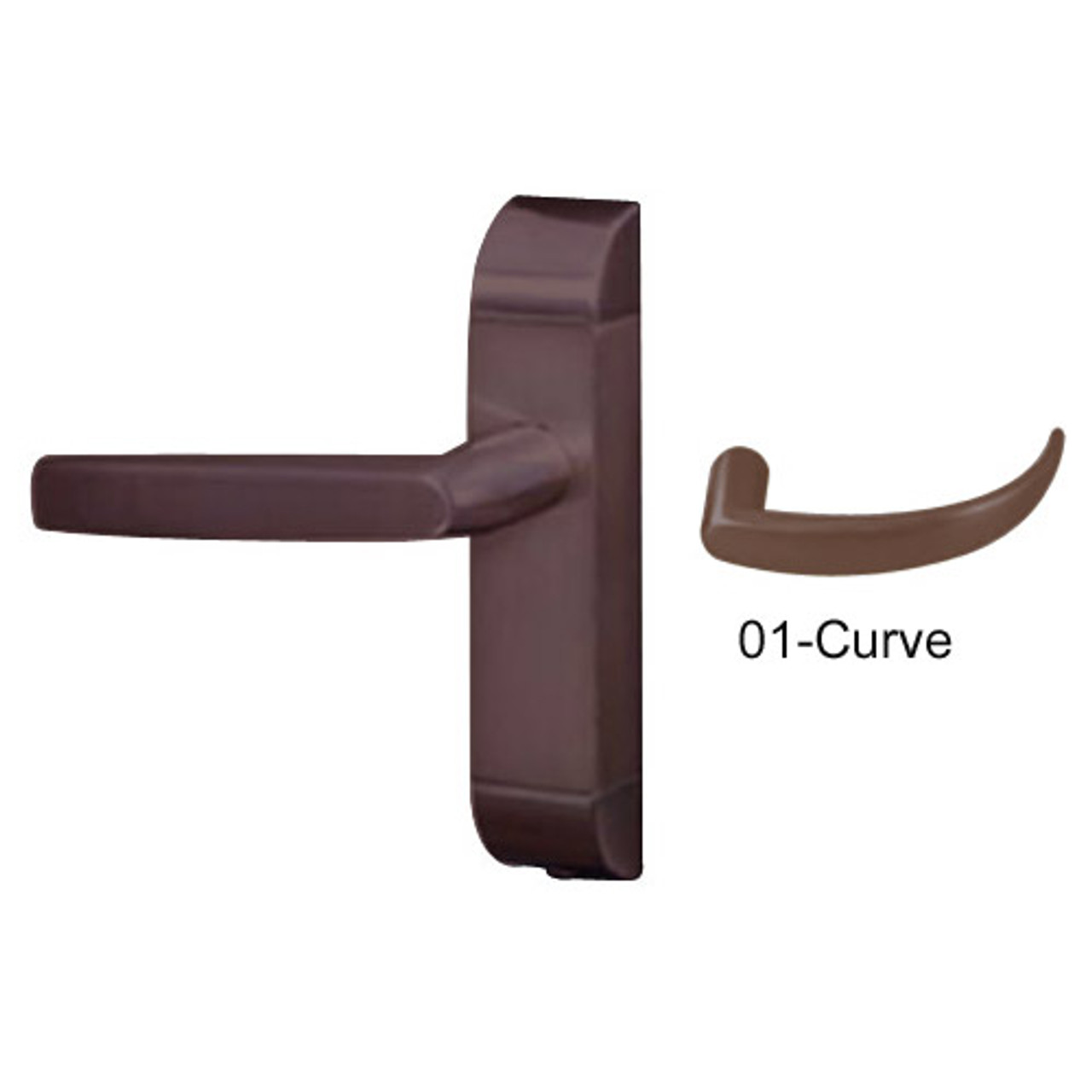 4600-01-531-US10B Adams Rite Heavy Duty Curve Deadlatch Handles in Oil Rubbed Bronze Finish