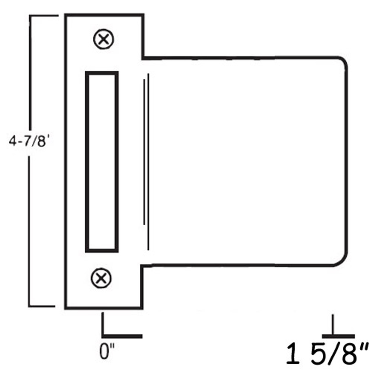 MEST-158-630 Don Jo Mortise Type Extended Lip ANSI Strike