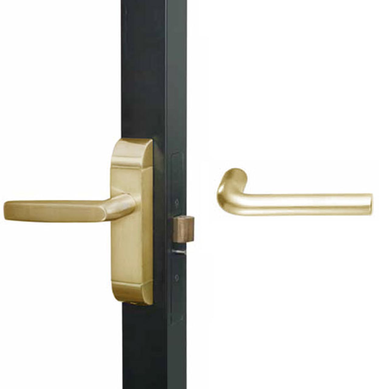 4600M-ME-622-US4 Adams Rite ME Designer Deadlatch handle in Satin Brass Finish