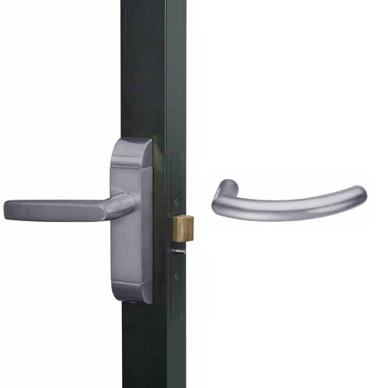 4600M-MG-551-US32D Adams Rite MG Designer Deadlatch handle in Satin Stainless Finish