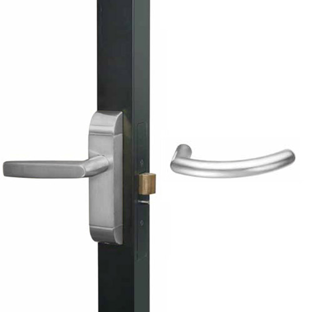 4600M-MG-641-US32 Adams Rite MG Designer Deadlatch handle in Bright Stainless Finish