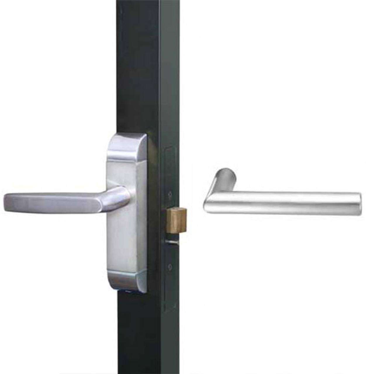 4600M-MI-542-US32 Adams Rite MI Designer Deadlatch handle in Bright Stainless Finish