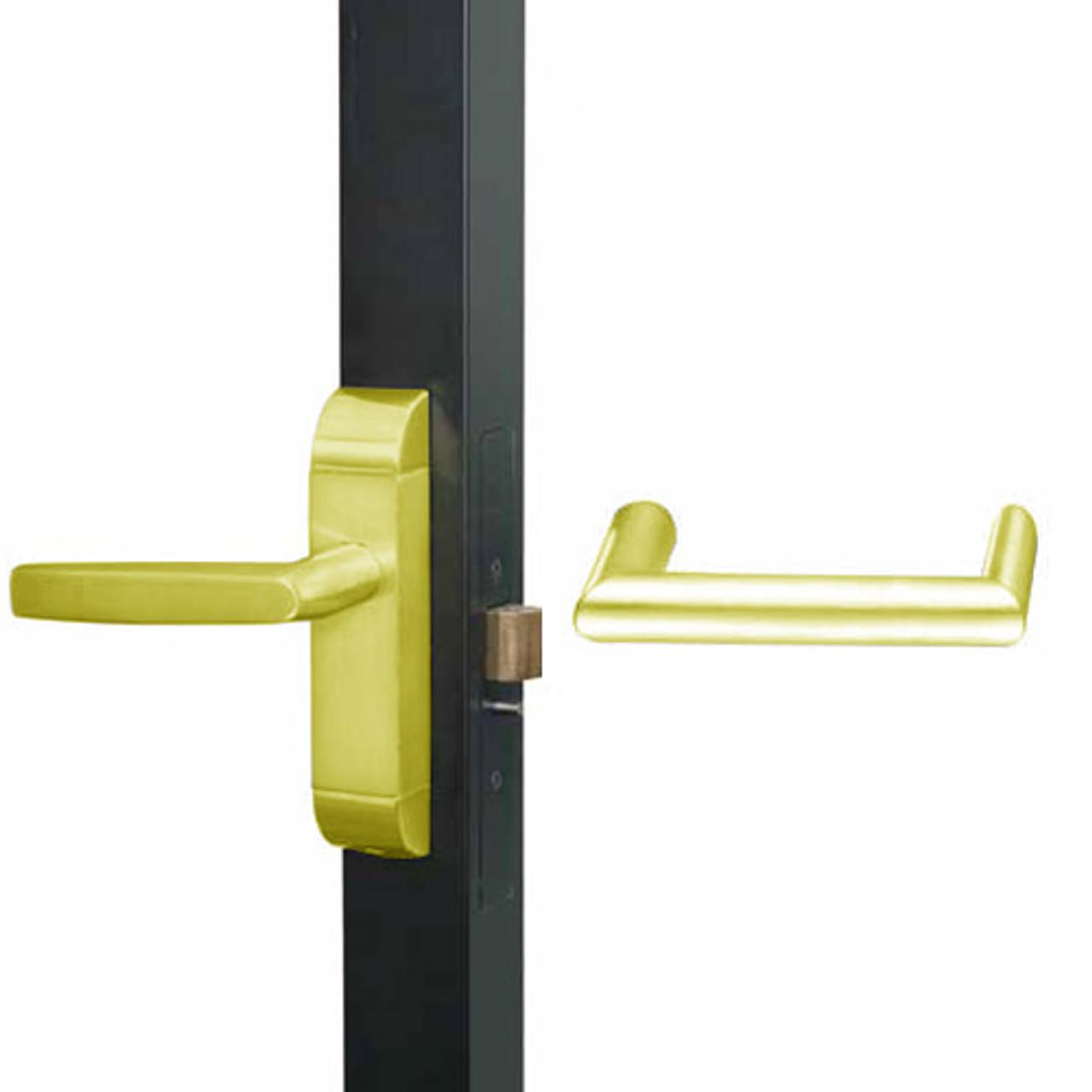 4600M-MW-611-US3 Adams Rite MW Designer Deadlatch handle in Bright Brass Finish
