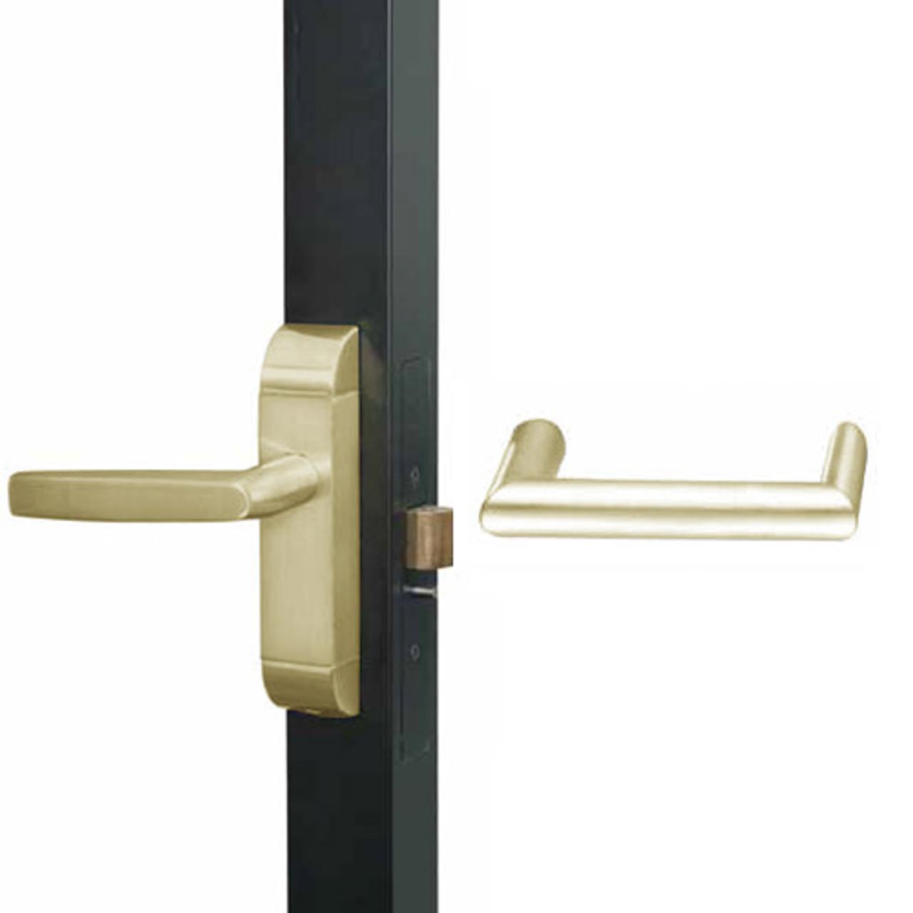 4600M-MW-621-US4 Adams Rite MW Designer Deadlatch handle in Satin Brass Finish