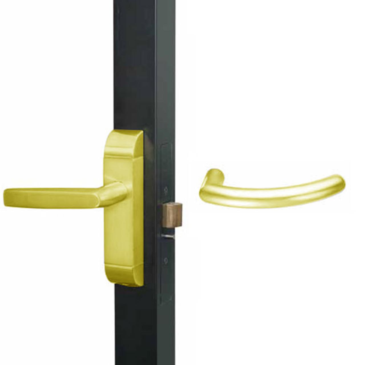 4600-MG-522-US3 Adams Rite MG Designer Deadlatch handle in Bright Brass Finish
