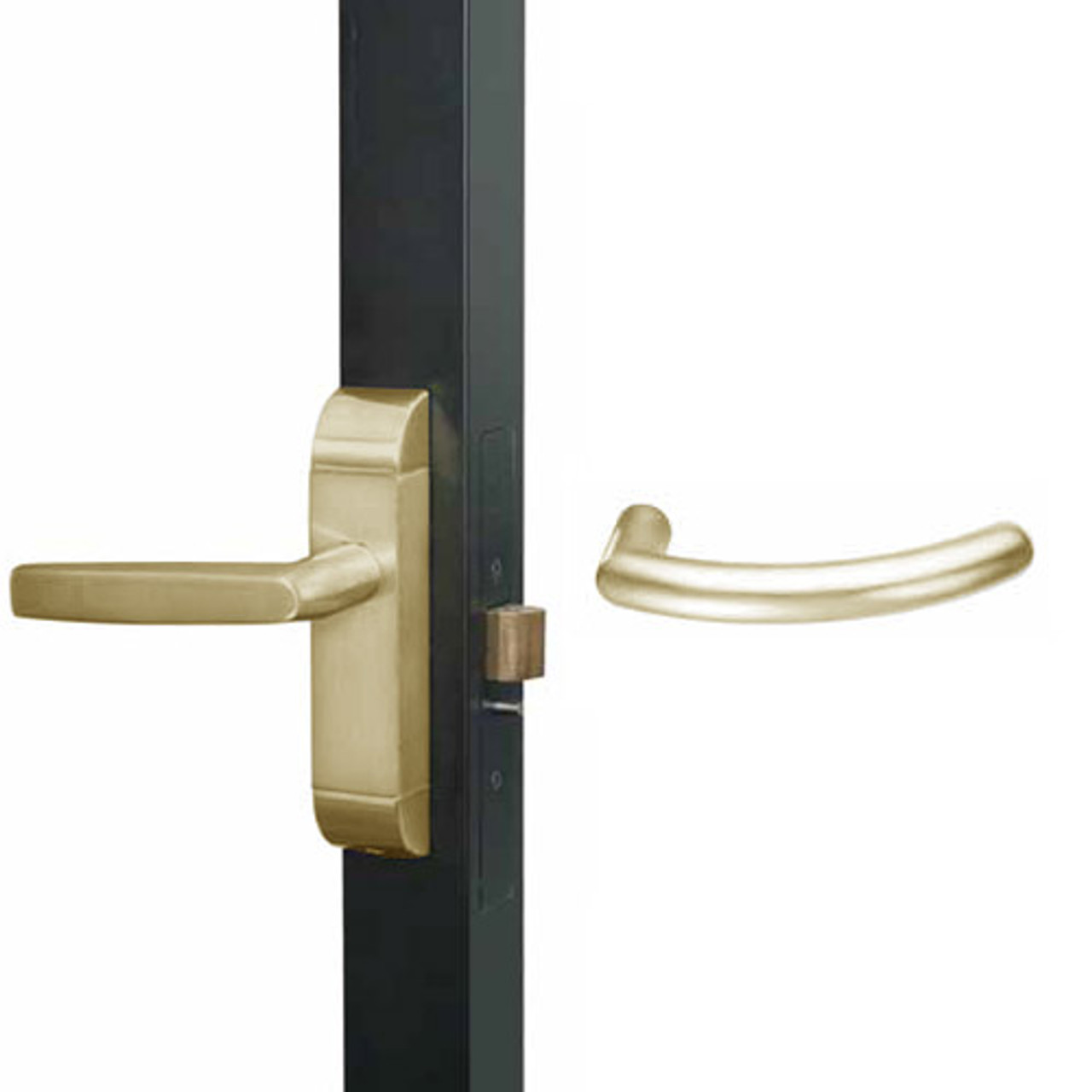 4600-MG-631-US4 Adams Rite MG Designer Deadlatch handle in Satin Brass Finish