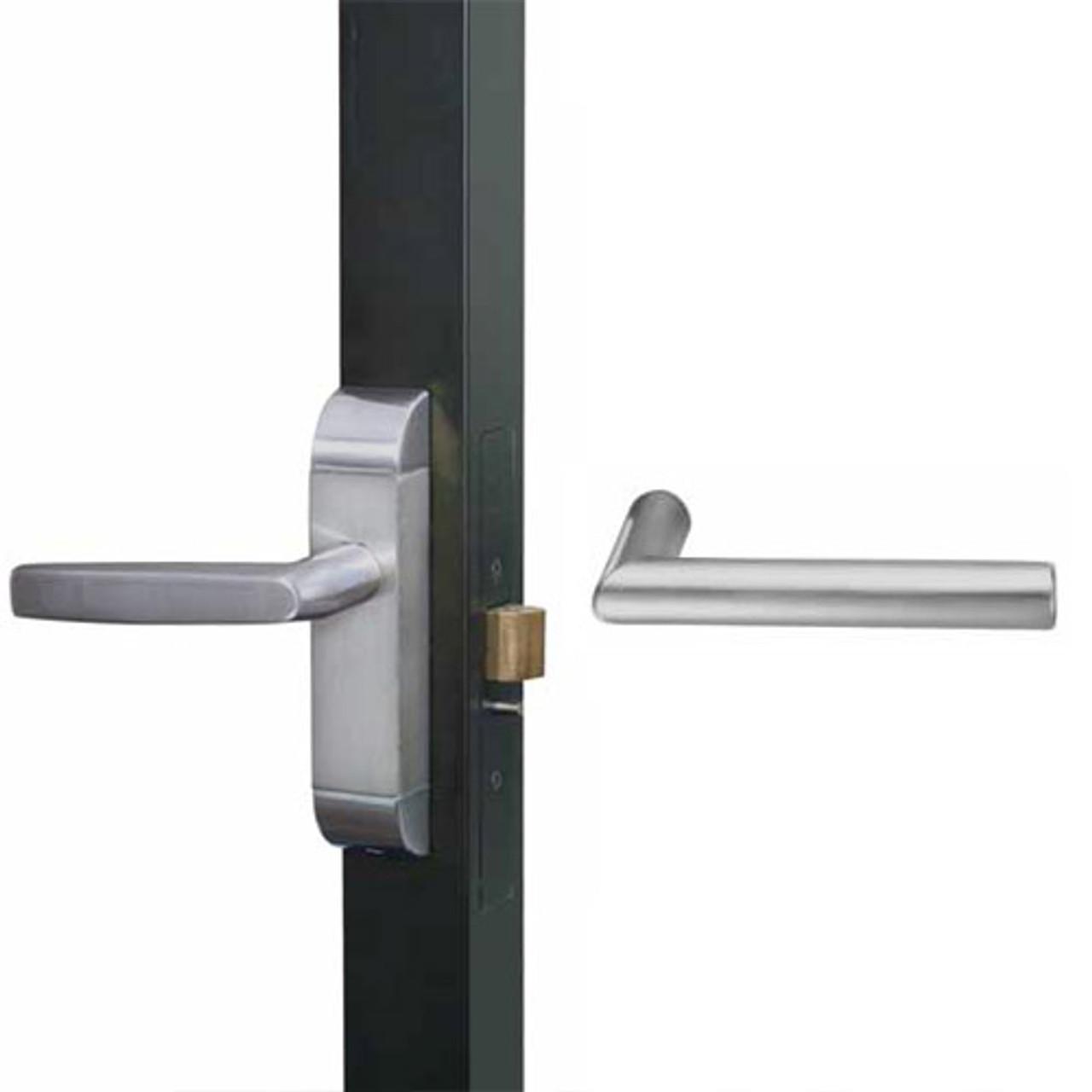 4600-MI-651-US32D Adams Rite MI Designer Deadlatch handle in Satin Stainless Finish
