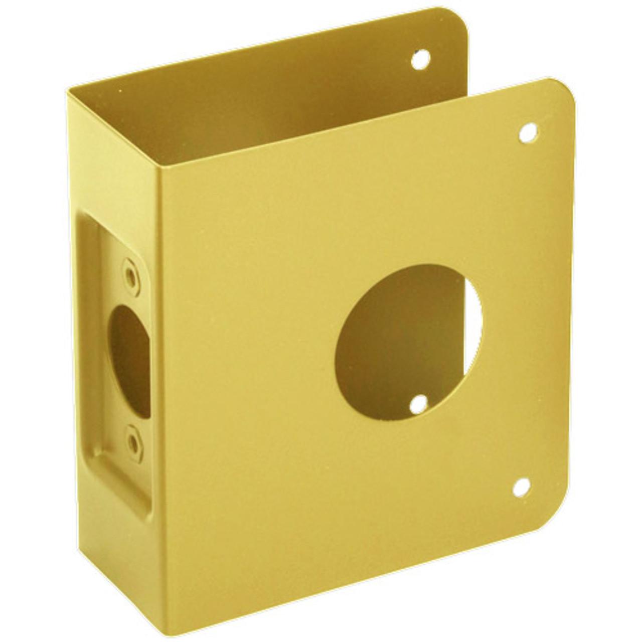 5-PB-CW Don Jo Classic Wrap Around Plate in Polished Brass Finish