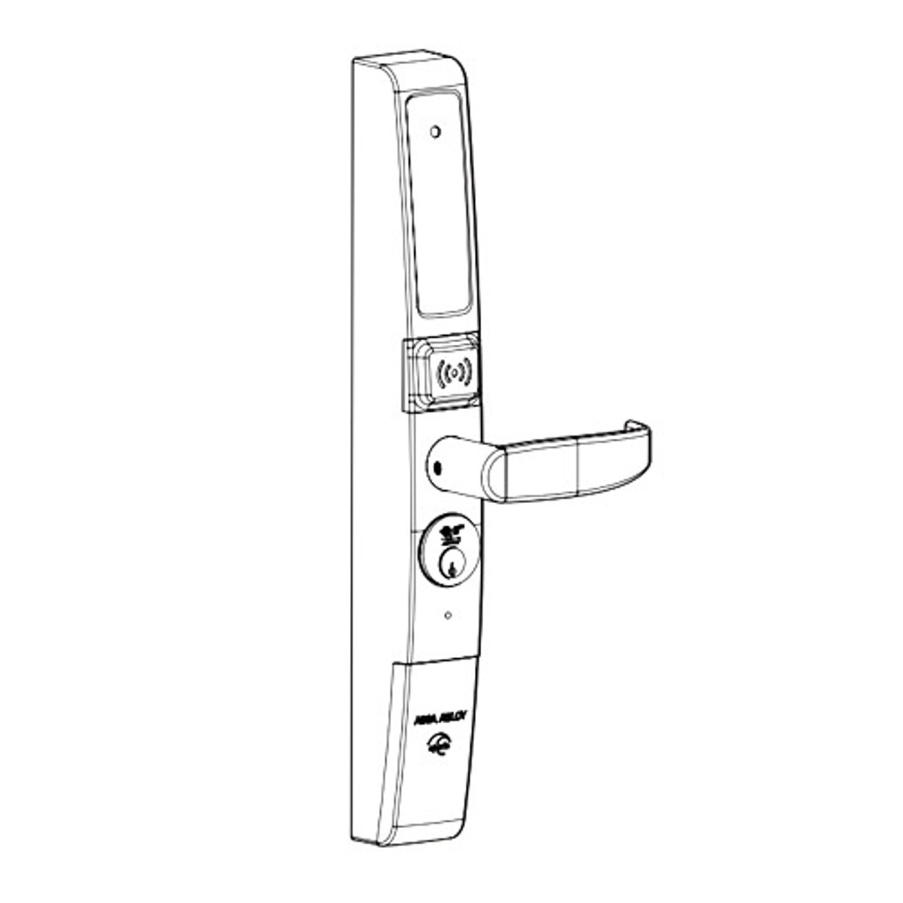 A100-3090H-P-01-121 Adams Rite Keyless Entry and Aperio Hub Wholesale Kit with Prox Reader for Deadlatches