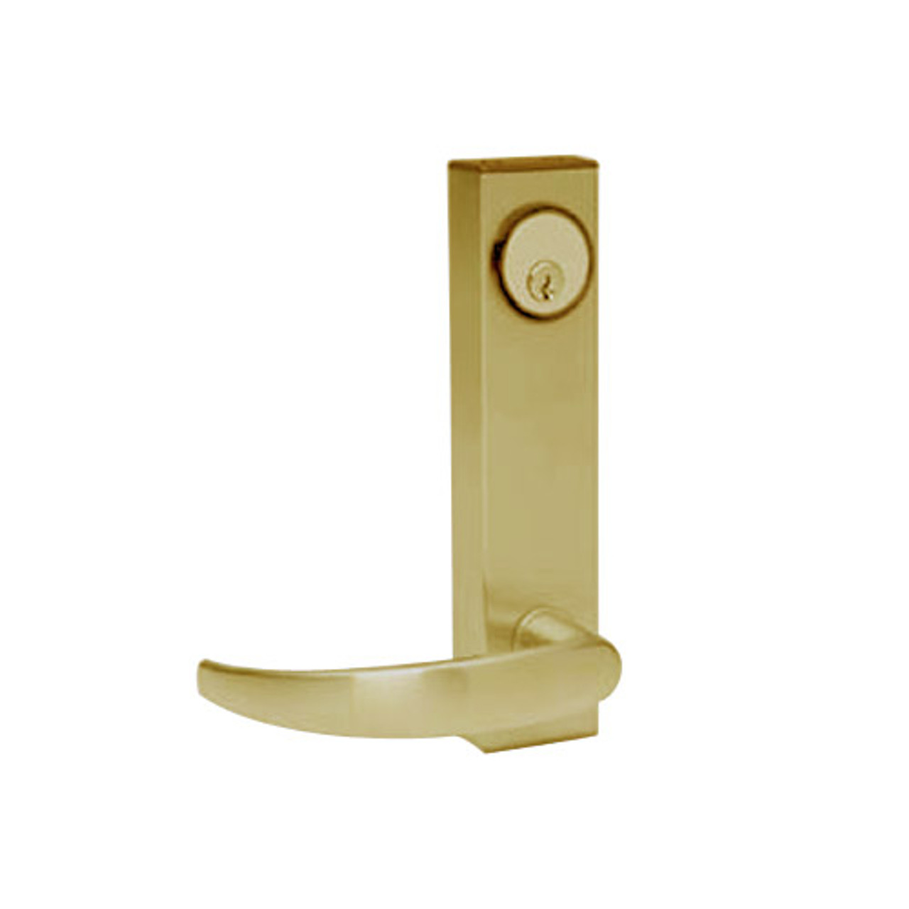 3080-01-0-93-US4 Adams Rite Standard Entry Trim with Curve Lever in Satin Brass Finish