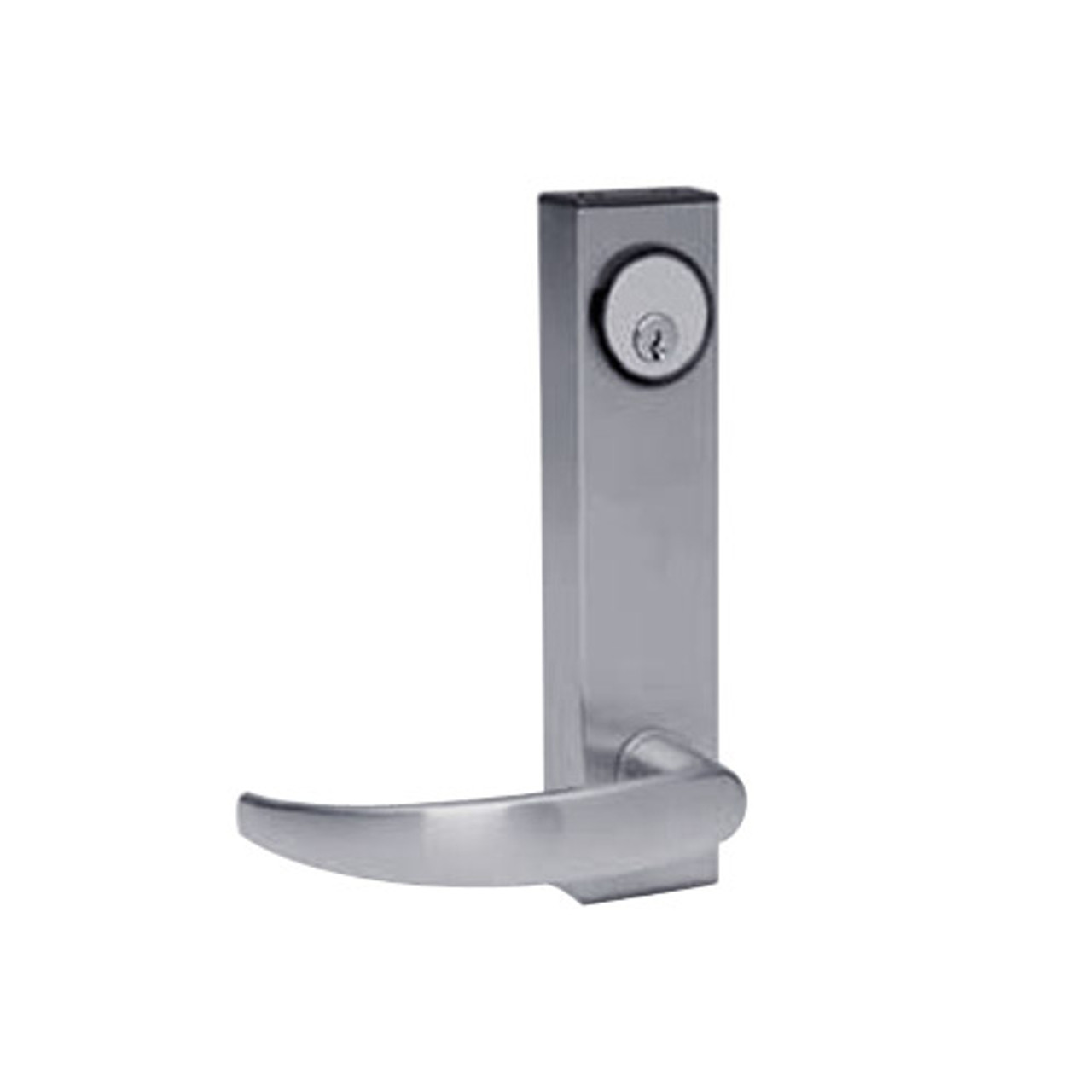 3080-01-0-97-US32D Adams Rite Standard Entry Trim with Curve Lever in Satin Stainless Finish