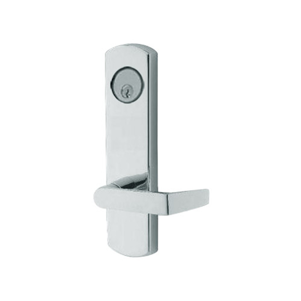 3080-03-0-91-US32 Adams Rite Standard Entry Trim with Square Lever in Bright Stainless Finish