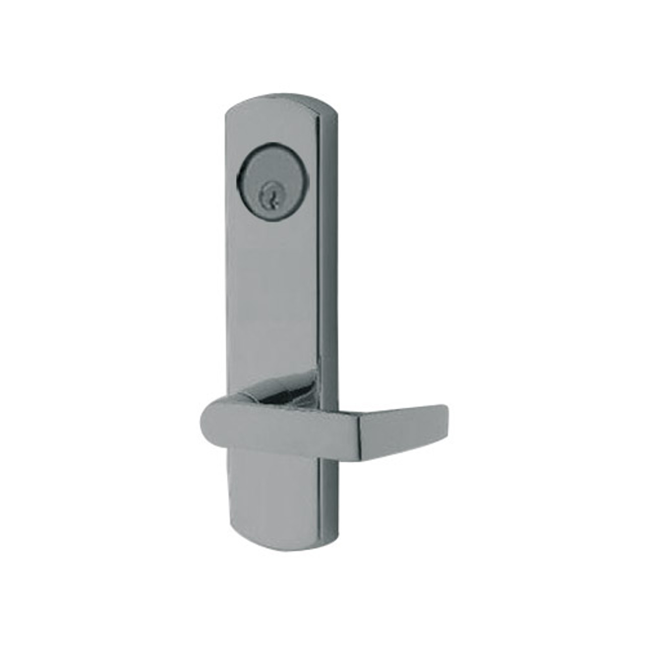 3080E-03-0-9U-30 US32D Adams Rite Electrified Entry Trim with Square Lever in Satin Stainless Finish