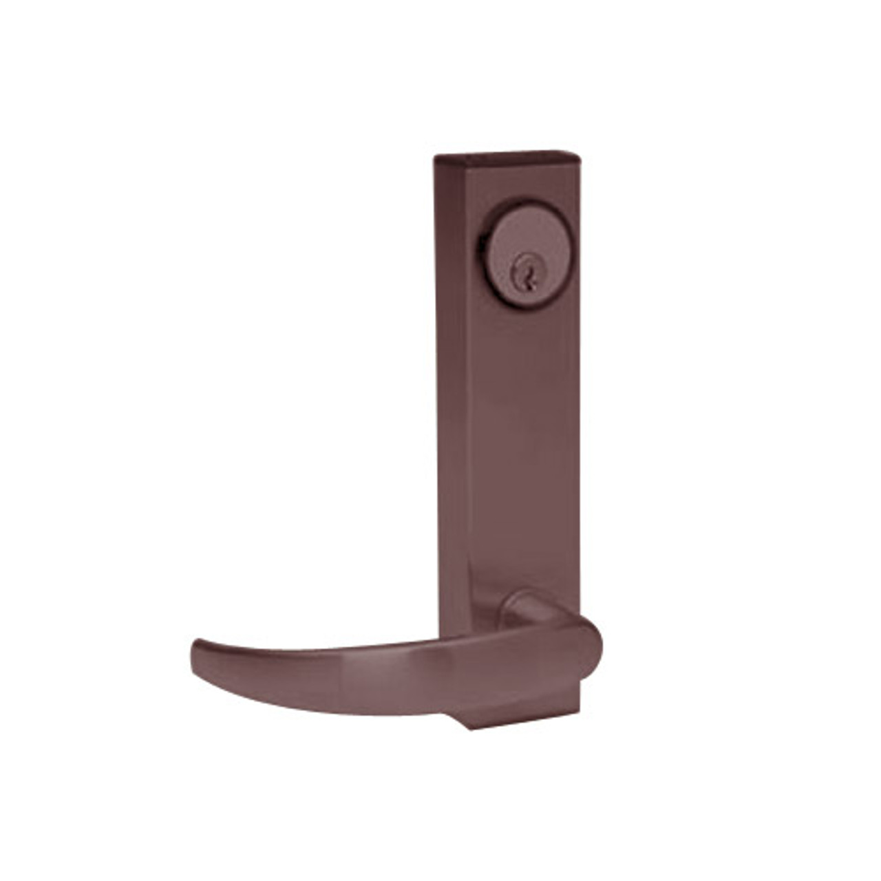 3080E-01-0-31-55 US10B Adams Rite Electrified Entry Trim with Curve Lever in Oil Rubbed Bronze Finish