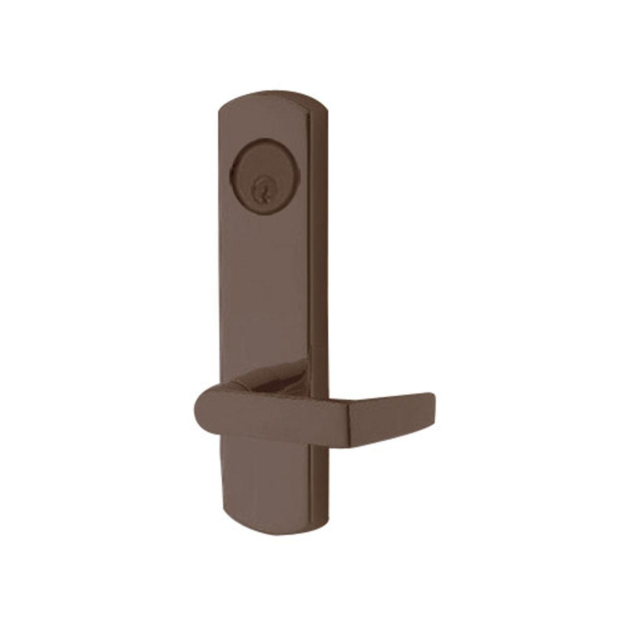 3080E-03-0-97-55 US10B Adams Rite Electrified Entry Trim with Square Lever in Oil Rubbed Bronze Finish